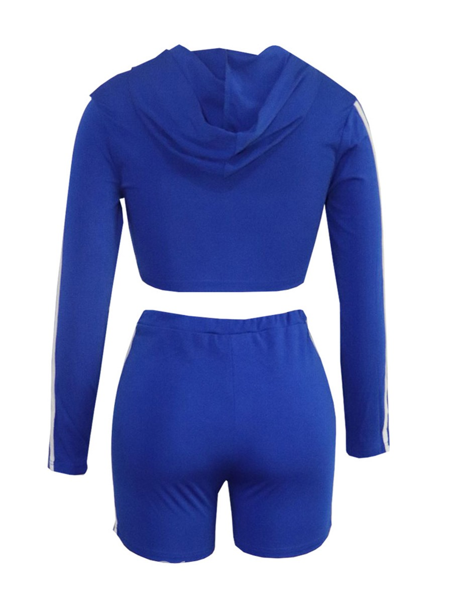 Ericdress Color Block Long Sleeve Pullover Hooded Sports Sets