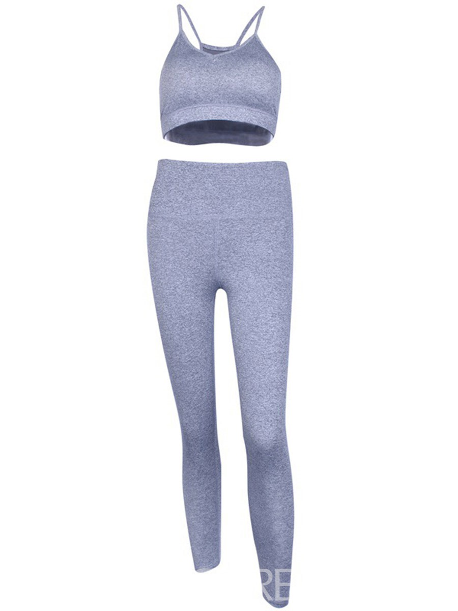 Ericdress Solid Ankle Length Running Yoga Sports Sets