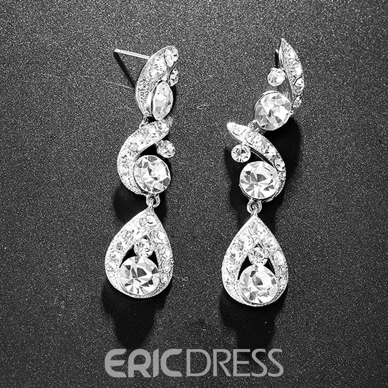 Earrings Necklace Korean Floral Jewelry Sets (Wedding)