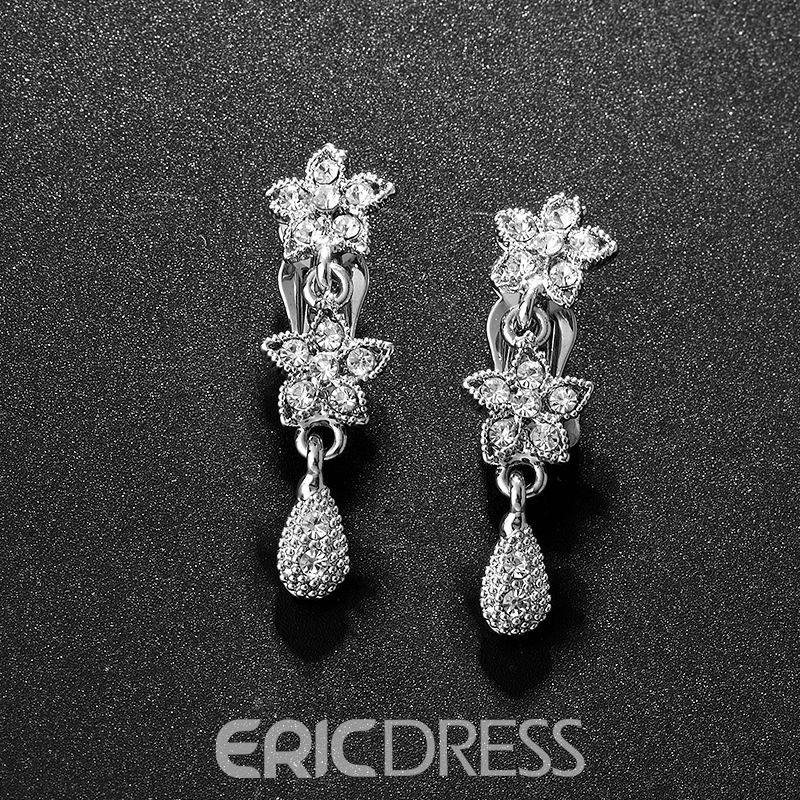 Korean Floral Earrings Jewelry Sets (Wedding)