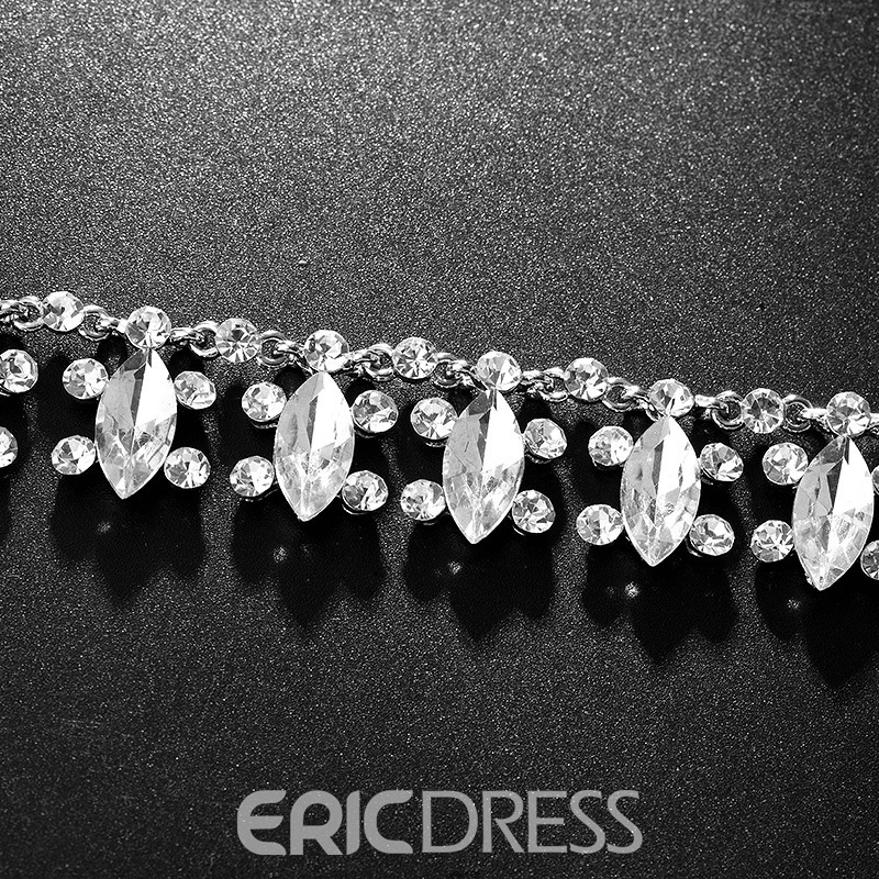 E-Plating Floral Necklace Jewelry Sets (Wedding)