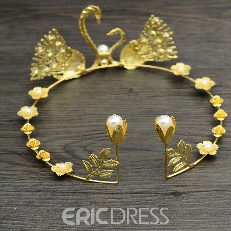 Tiara Pearl Inlaid Korean Hair Accessories