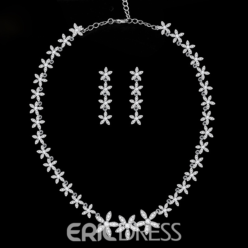 EricdressE-Plating Floral Necklace Jewelry Sets (Wedding)