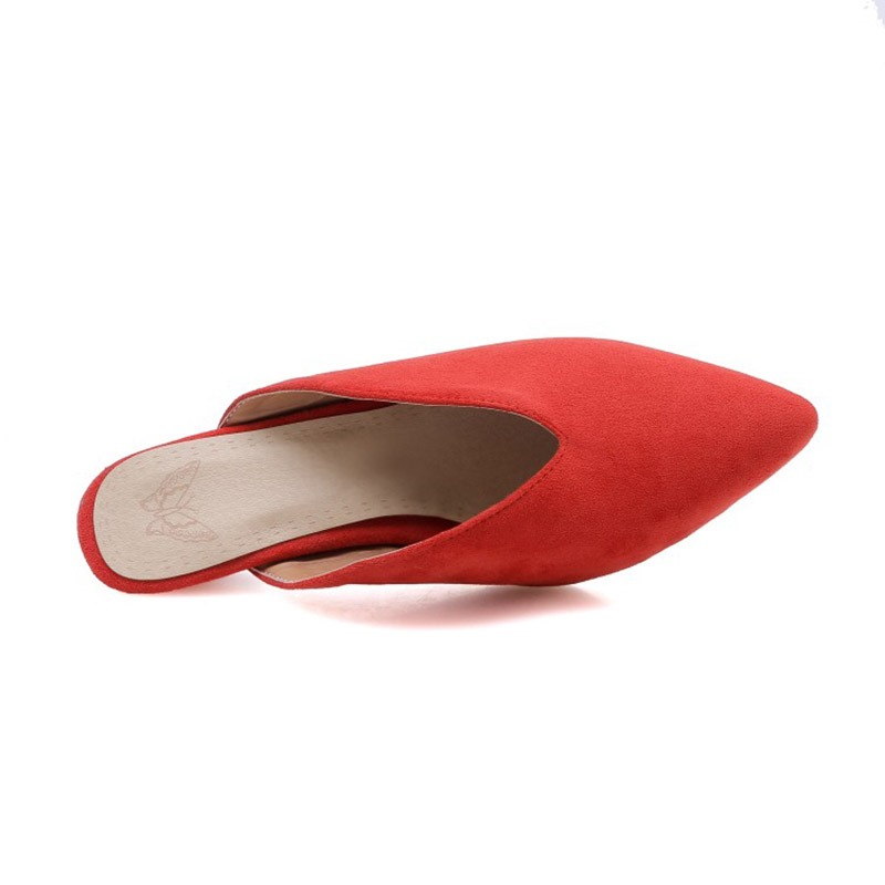 Ericdress Faux Suede Kitten Heel Women's Mules Shoes