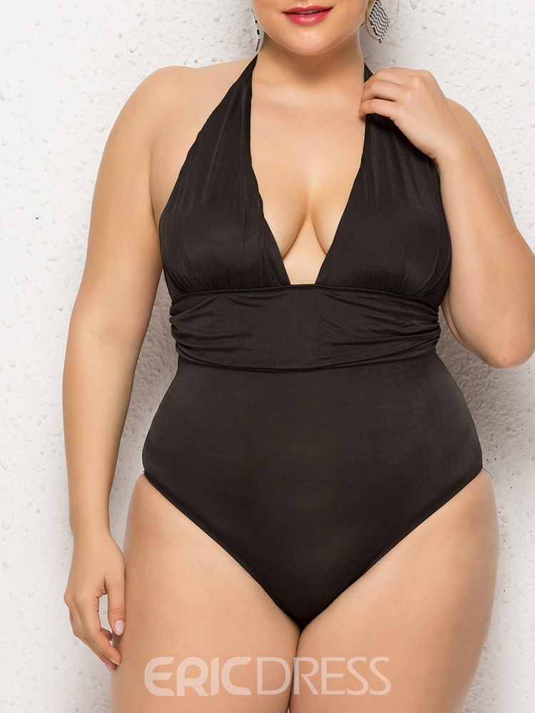 Ericdress Beach Look Plus Size Plain Swimwear