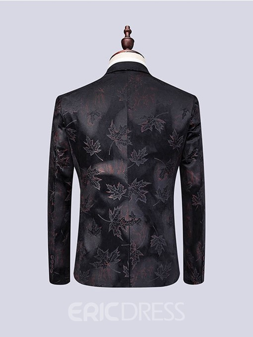 Ericdress Plant Printed 3 Pieces Men's Casual Party Suit