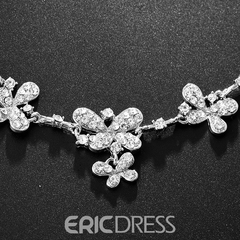 E-Plating Floral Earrings Rhinestone Jewelry Sets (Wedding)