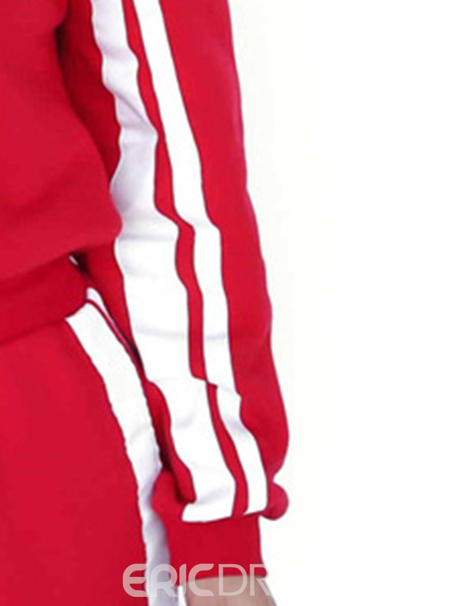 Ericdress Stripe Polyester Long Sleeve Full Length Sports Sets