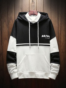 Ericdress Color Block Pullover Spring Men's Casual Hoodies