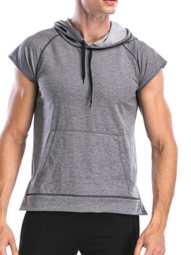 Ericdress Men Anti-Friction Short Sleeve Pullover Hooded Sports Tops