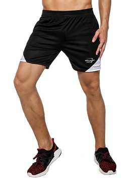 Ericdress Men Color Block Shorts Patchwork Sports Pants