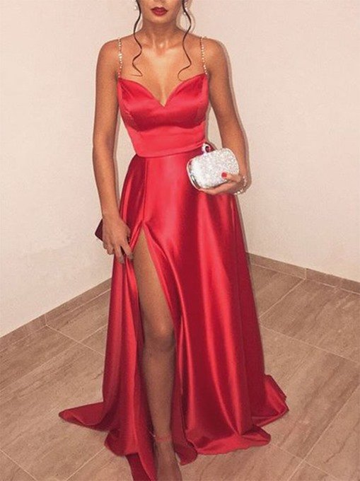 Ericdress A-Line Spaghetti Straps Long Prom Dress 2019