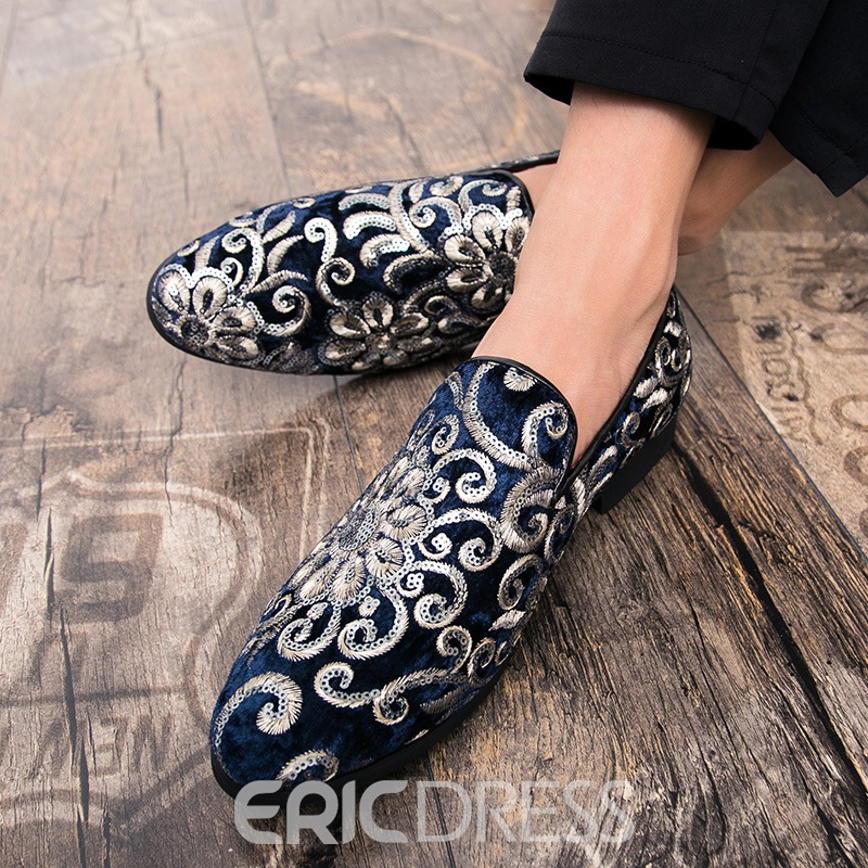 Ericdress Flocking Sequin Men's Dress Shoes