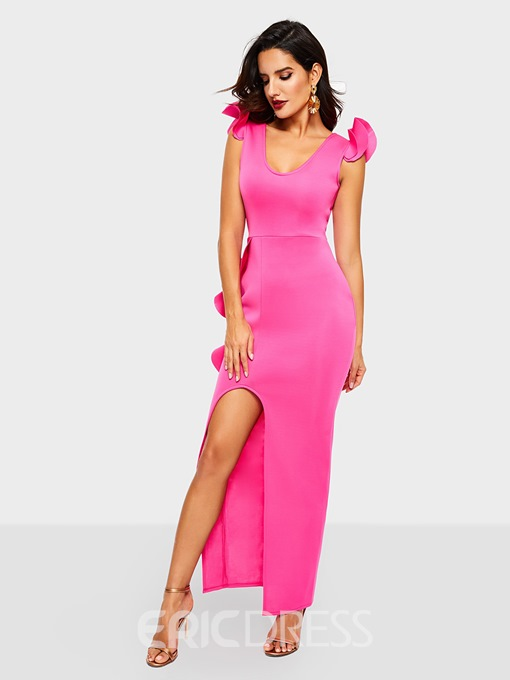 Ericdress Asymmetric Floor-Length Sleeveless Standard-Waist Dress