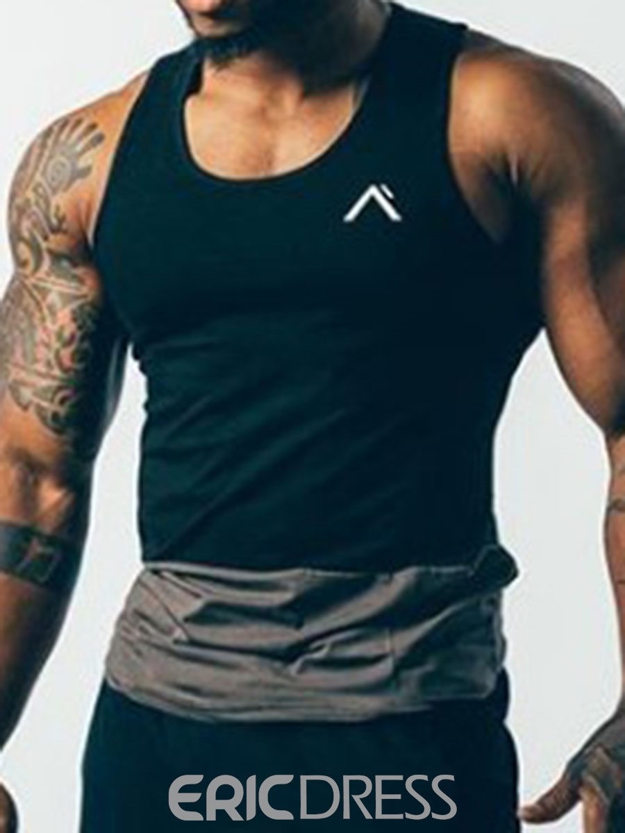 Ericdress Men Color Block Breathable Pullover Sports Vest Tops
