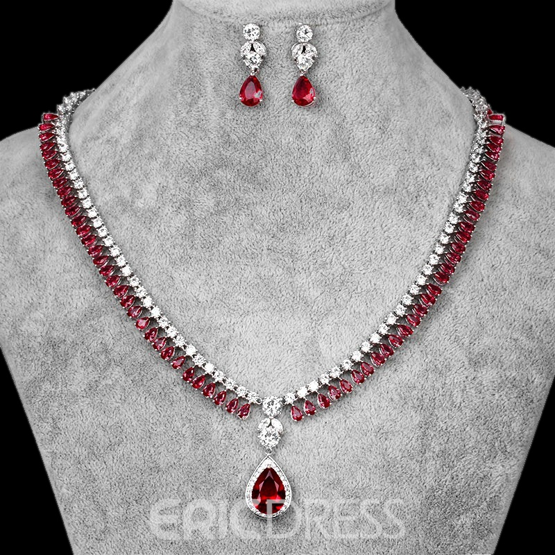 Water Drop European Earrings Jewelry Sets (Wedding)