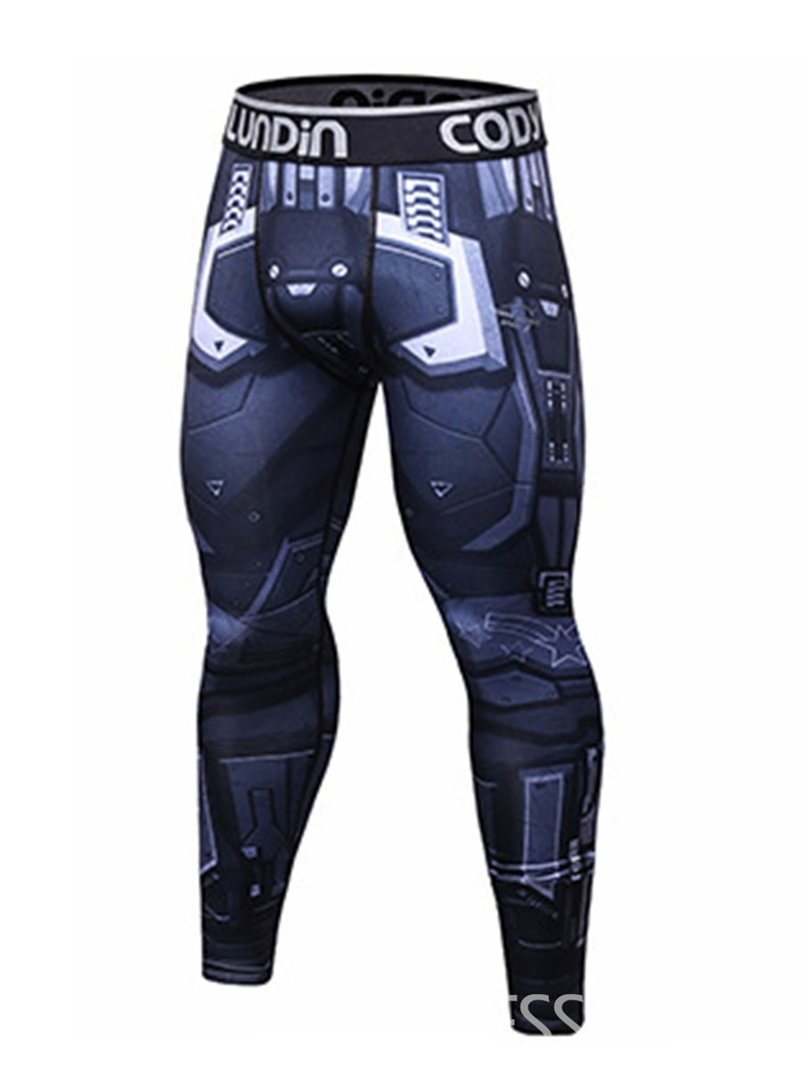 Ericdress Print Compression Dry Cool Sports Tights Men's Pants