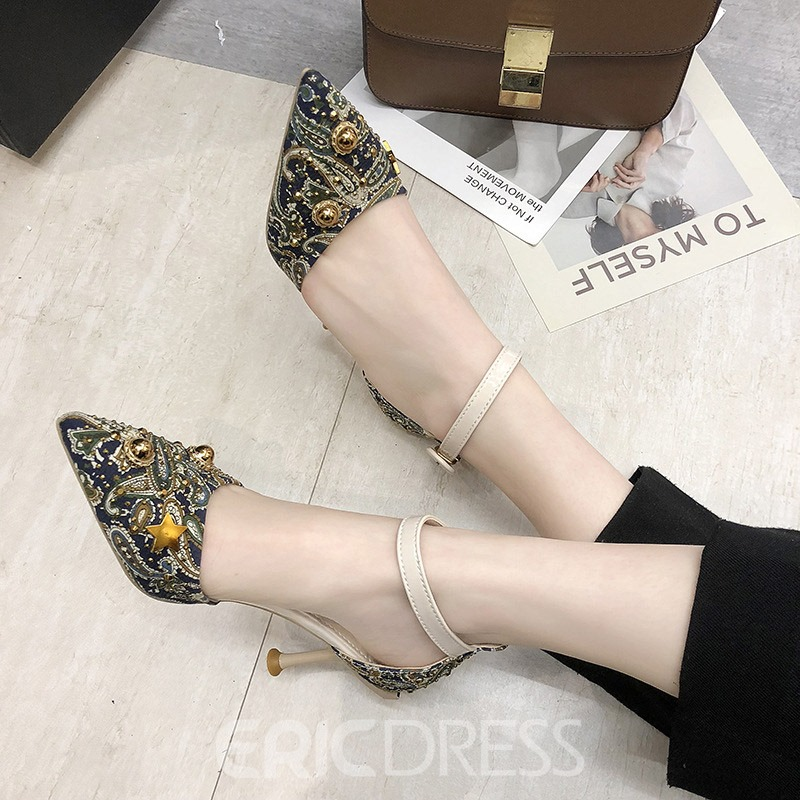 Ericdress Beads Pointed Toe Women's Pumps