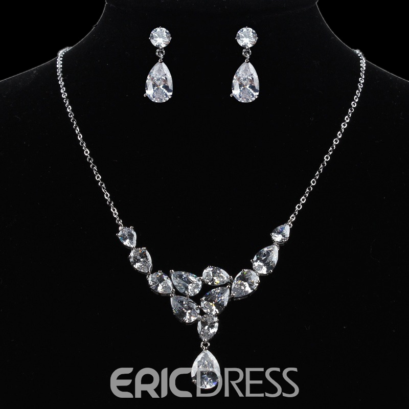 European Earrings Water Drop Jewelry Sets (Wedding)