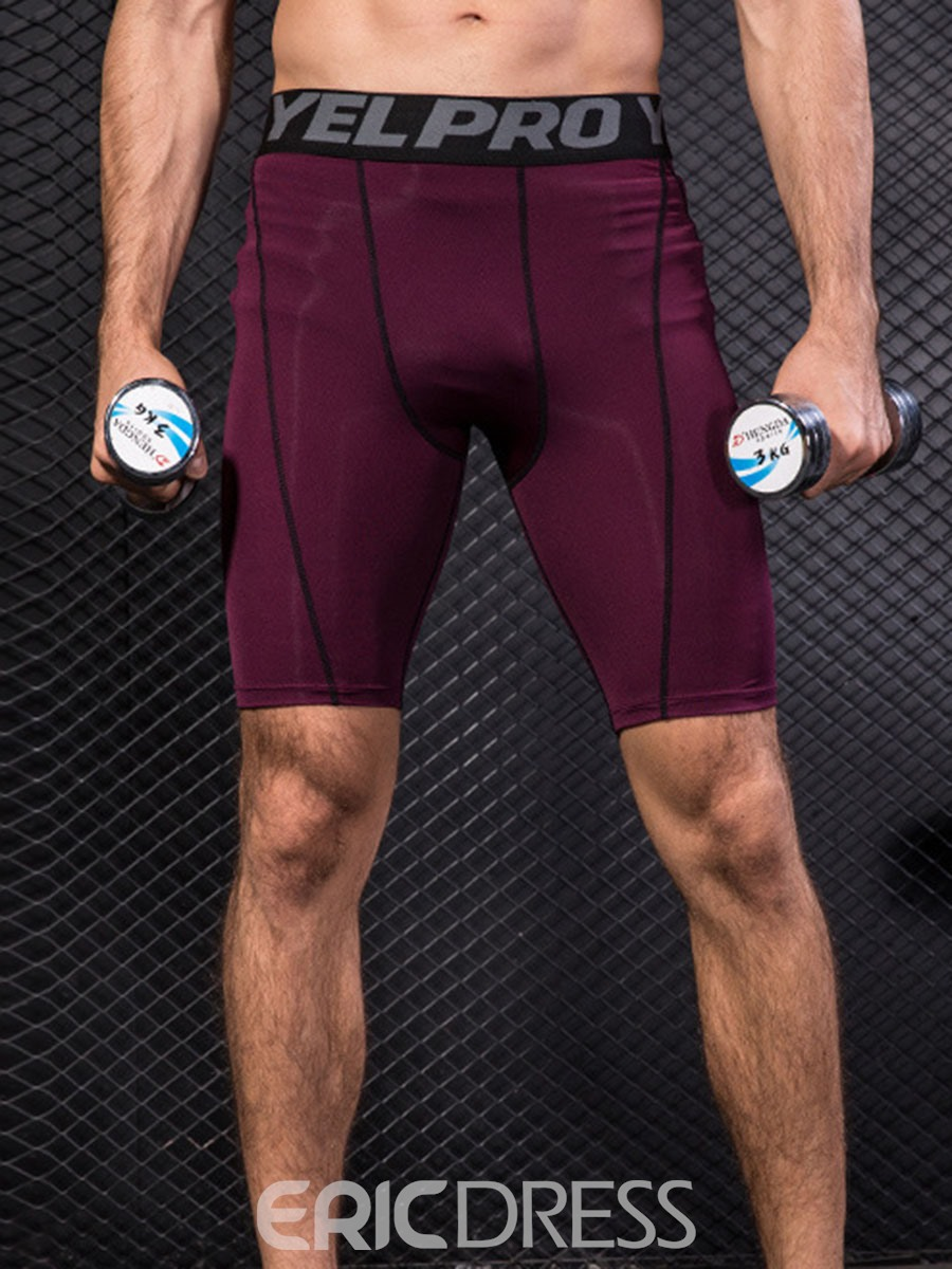 Ericdress Quick Dry Color Block Running Shorts Sports Pants