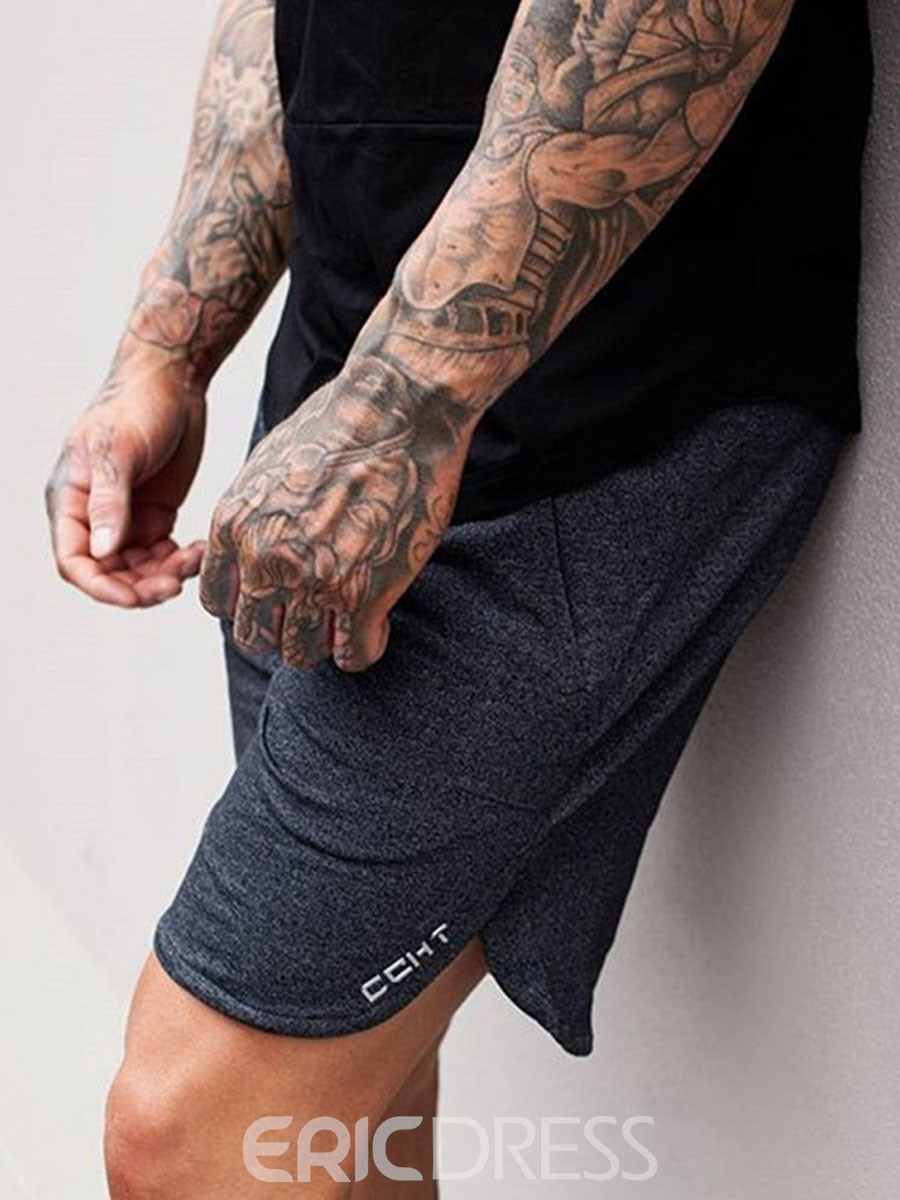 Ericdress Men Letter Shorts Sports Pants
