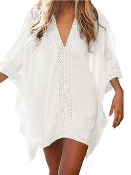 ericdress jersey liso look de playa tops