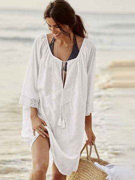 ericdress tops europeos con cordones de playa