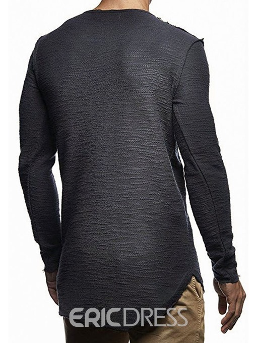 Ericdress Round Neck Plain Mens T-shirt