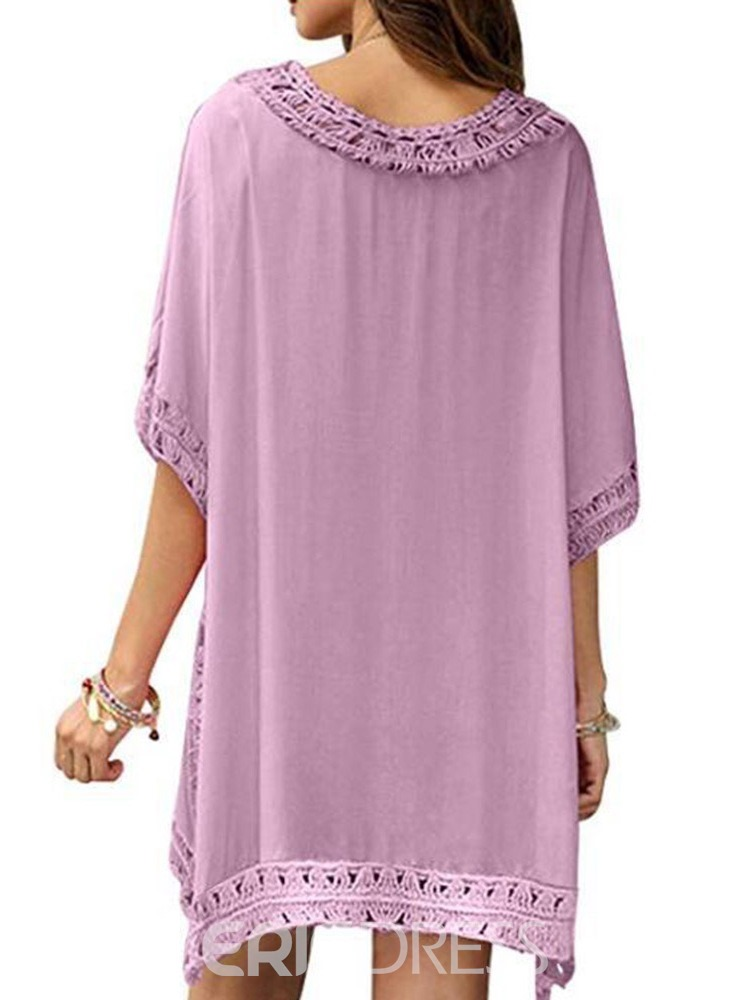 Ericdress Beach Look Plain Pullover Beach Tops