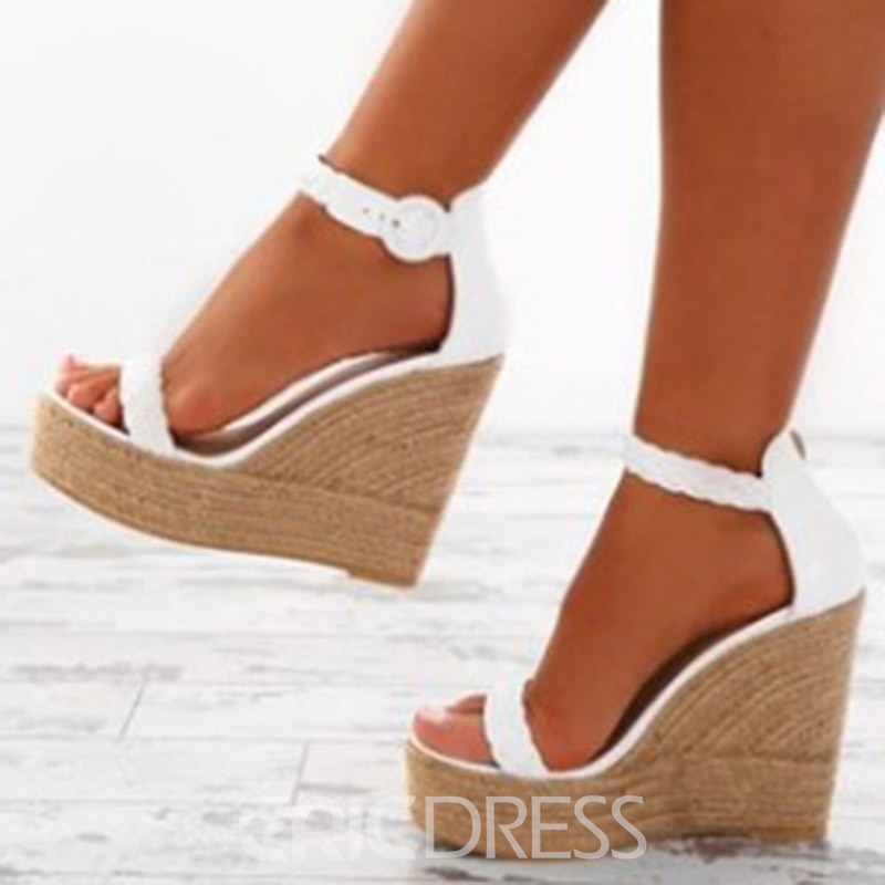 Ericdress Plain Heel Covering Wedge Heel Women's Sandals