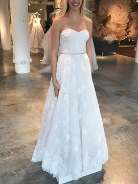 Ericdress A-Line Beading Lace Wedding Dress 2019