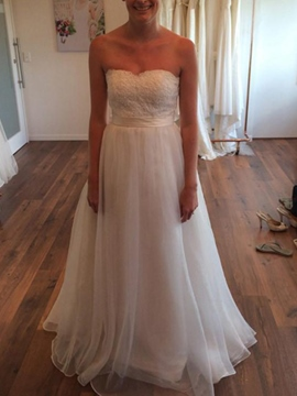 Ericdress Sashes Lace Outdoor Wedding Dress 2019
