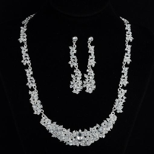 European Necklace Diamante Jewelry Sets (Wedding)