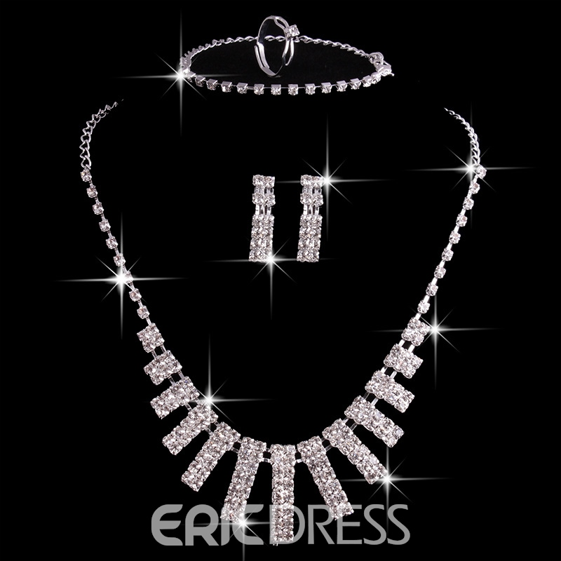 Ericdress Necklace Floral European Wedding Jewelry Sets
