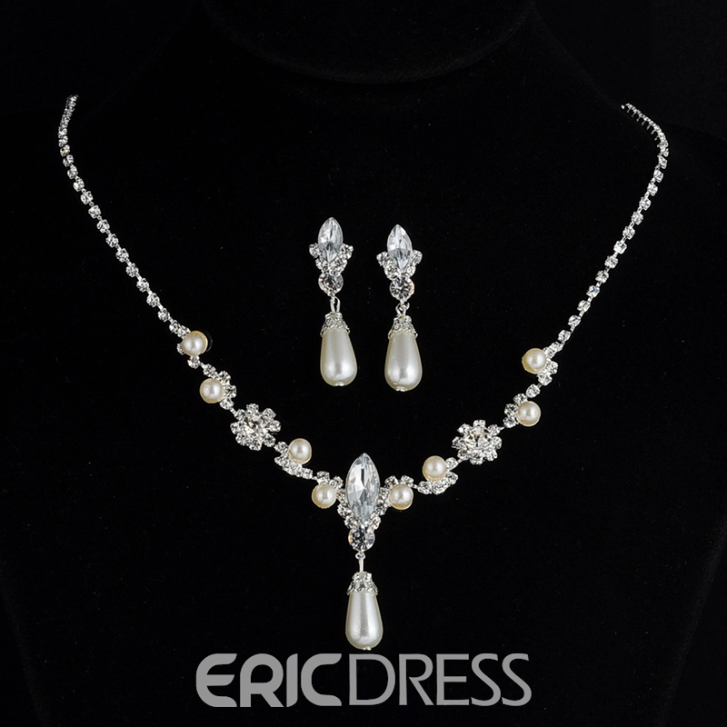 European Diamante Earrings Jewelry Sets (Wedding)