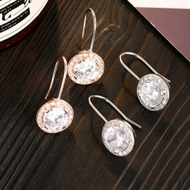 Ericdress Plain Diamante Women Earrings