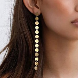 Ericdress SequinBronze Long Earrings