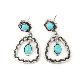 Ericdress Alloy Turquoise Vintage Earrings