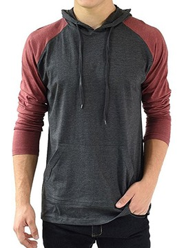 Ericdress Color Block Men's Pullover Hoodies
