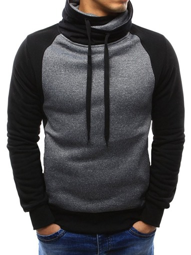 Ericdress Color Block Patchwork Men's Pullover Hoodies
