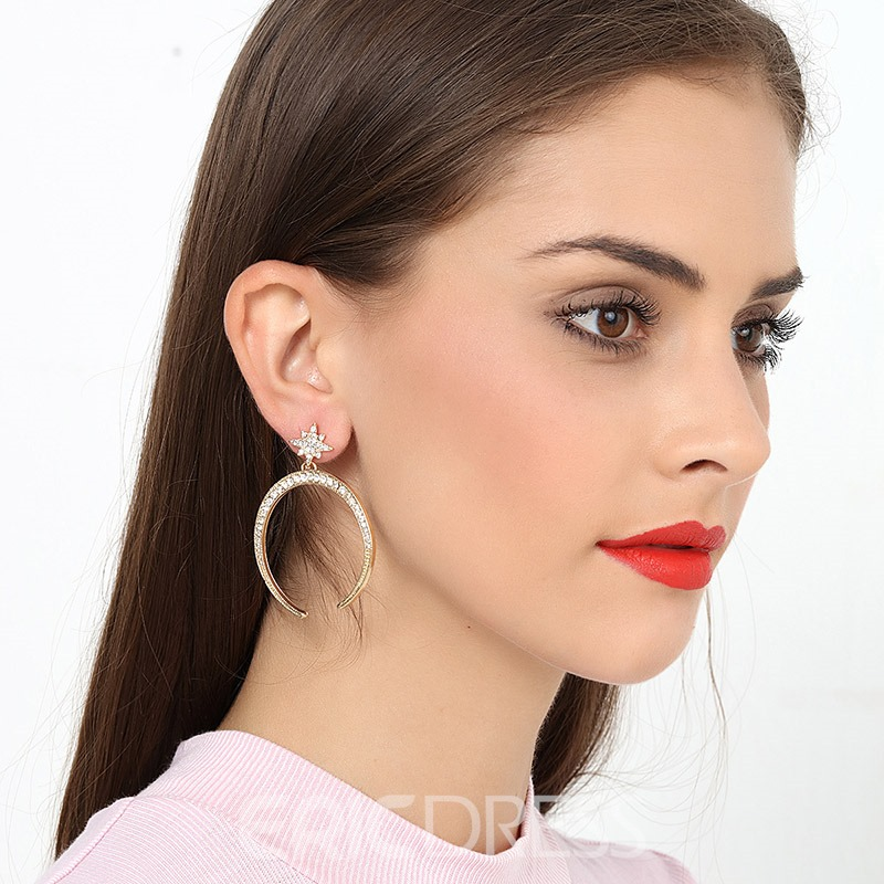 Ericdress European Alloy Star Earrings