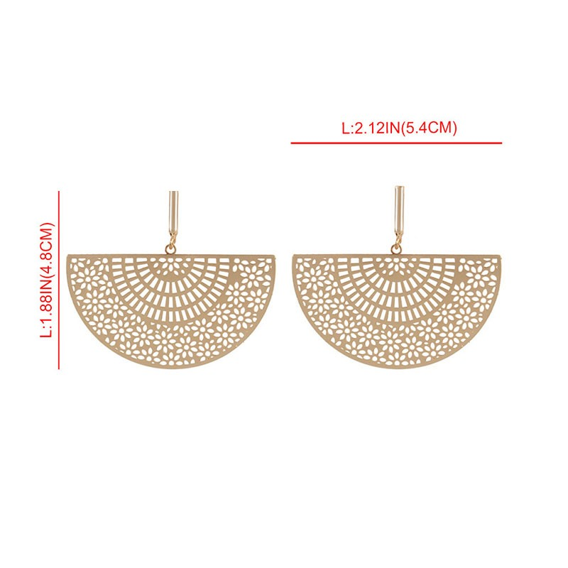 Ericdress Alloy Plain Fanshaped Earrings