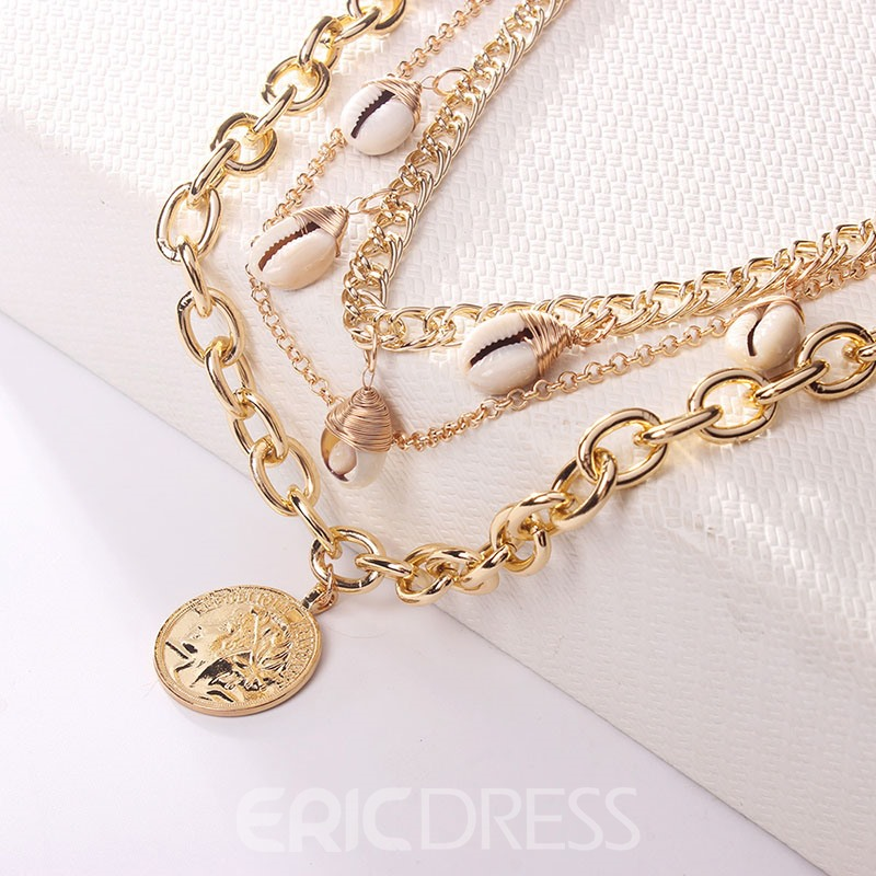 Ericdress Multilayer Conch Necklace