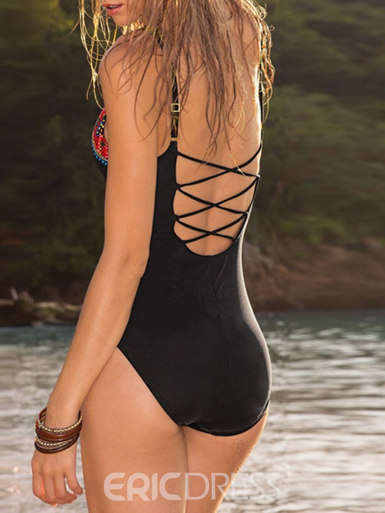 Ericdress Geometric Color Block Sexy Swimwear