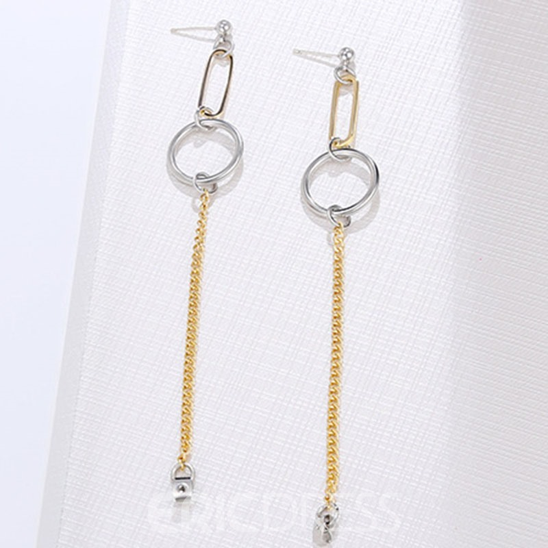 Ericdress Simple Color Block Earrings