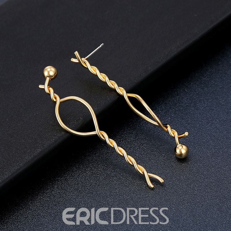 Ericdress Alloy Twist Simple Earrings