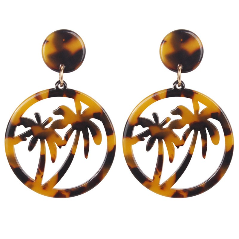 Ericdress Tortie Coconut Tree Holiday Earrings