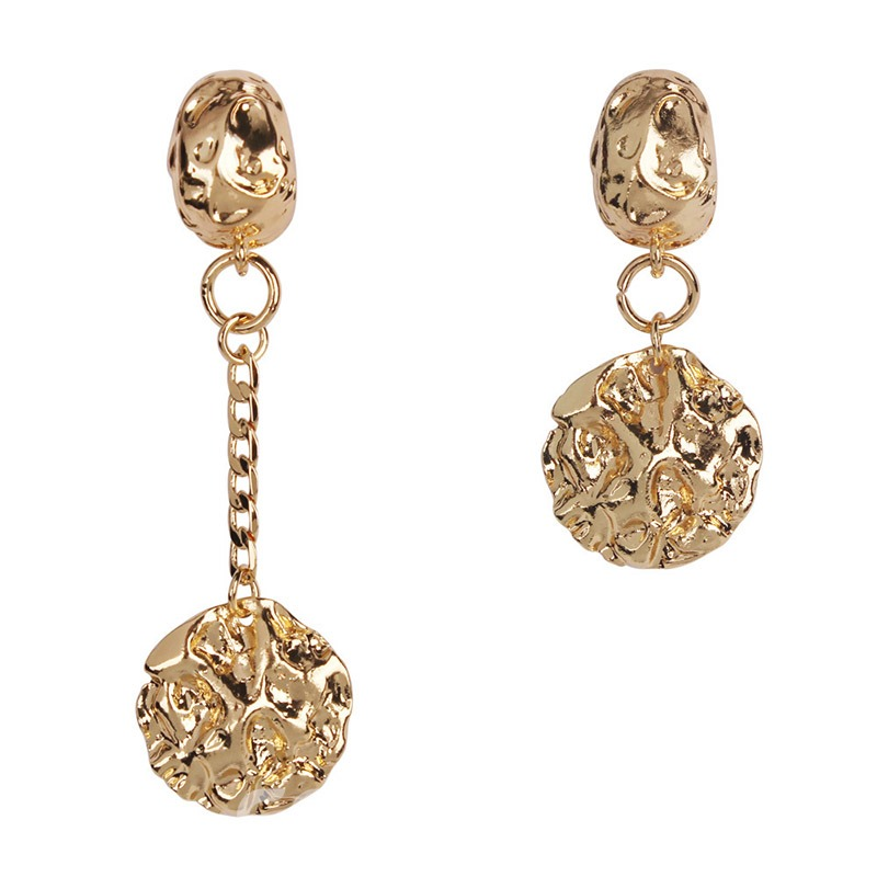Ericdress Anomaly Irregularity Golden Earrings