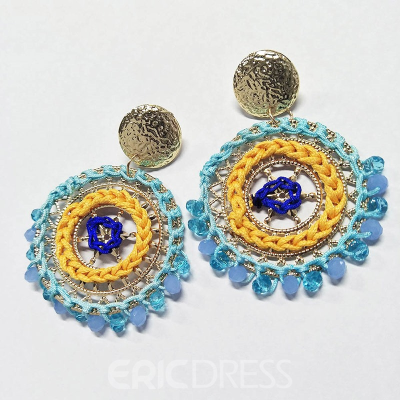 Ericdress Round Alloy Beads Earrings