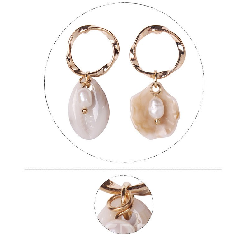 Ericdress E-Plating Conch Pearl Earrings